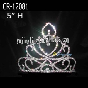 Fashion heart rhinestone tiara crowns