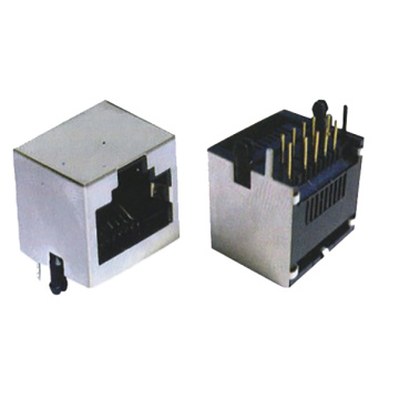 RJ45 Jack 10P10C side entry 1X1P Full shielded