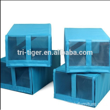 Foldable waterproof Shoe Storage Box with mesh design