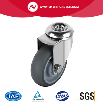 Swivel TPR Caster With Hollow Kingpin