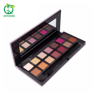 Customed label eyeshadow palette with cardboard packaging