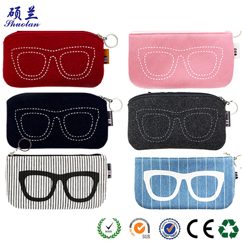 Hot Sale Felt Glasses Bag