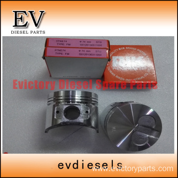 YANMAR engine piston 3TNE74 piston ring