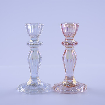 irredescent  candle holders for decoration