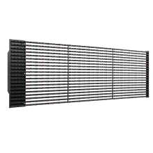 Professional for China Led Video Curtain,Large Led Curtain Screen,Media Led Grid Display,Custom Curtain Led Display Manufacturer P50 outdoor led grille curtain display supply to Portugal Manufacturer