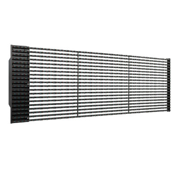 Cheapest Price for Large Led Curtain Screen P50 outdoor led grille curtain display supply to South Korea Factories