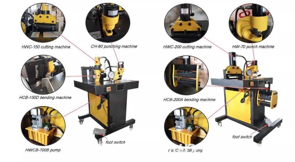 hydraulic Busbar Processing Machine