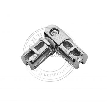 Swivel connector for 25mm chrome tube