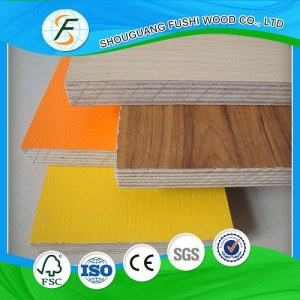 Wood Grain Melamine Plywood 2-25mm Hot Sale