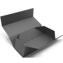 High Quality Black Cosmetics Folding Box with Magnet