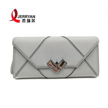 Designer Genuine Leather Envelope Purse Clutch