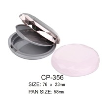 Round Plastic Powder Compact Case