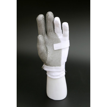 Three fingers stainless steel cutting gloves
