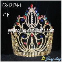 Mix colored rhinestone pageant crowns for sale