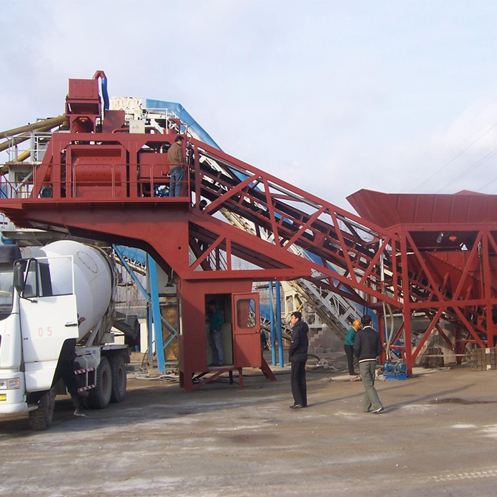 HZSY25 small mobile concrete batching plant for sale