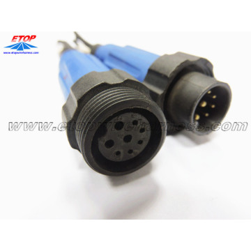Customized for waterproof wire harness 8PIN Molded waterproof cable export to France Importers