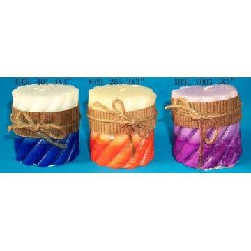 craft scented pillar candle
