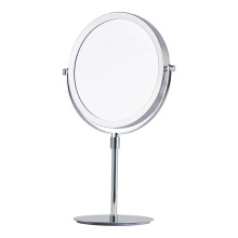 Two-sided round adjustable standing mirror