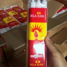 Best Quality for South Africa Market Candle 400g South Africa Velas White Fluted Candle Bougies export to Cuba Importers