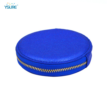 Classic Women Zipper Wallet Round Leather Coin Purse