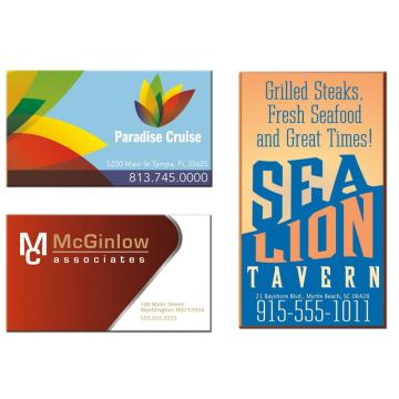 Outdoor Restaurant Business Card Magnets Round Corners