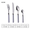 18/0 Walmart Plastic Handle Cutlery Sets