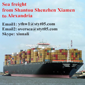 Sea shipping freight from Shantou to Alexandria