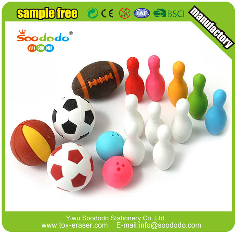 Soododo Sport series 3D ball eraser for kids