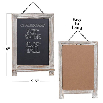 Rustic Magnetic Hanging Chalkboard Wooden Framed Decorative Blackboard for Weddings
