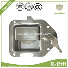 Recessed Flush Paddle Latch With Security Key