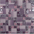 Luxury Purple Color Cracked Glass Mosaic