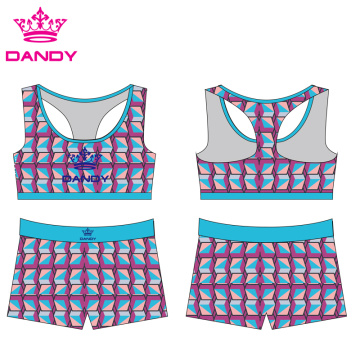 Sublimated Spandex Yoga Shorts Women