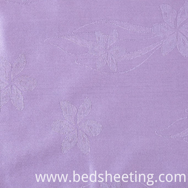 Purple Cvc 5050 Jacquard Dyed Fabric