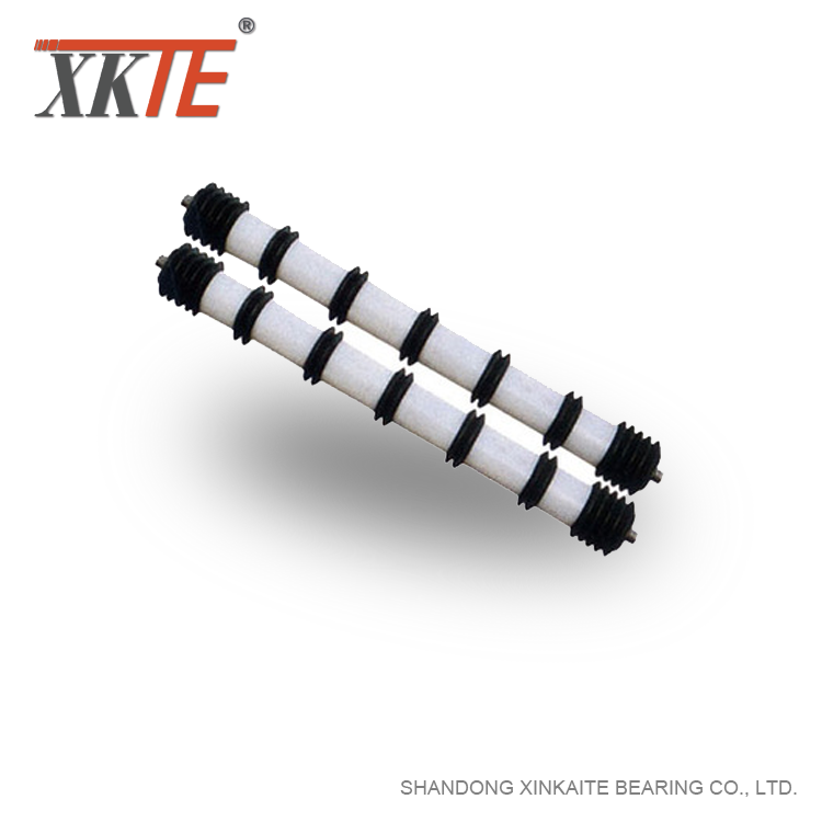 Comb type Cleaning Idler Roller For Bulk Conveyor
