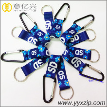 custom style carabiner keychain with sublimation tape