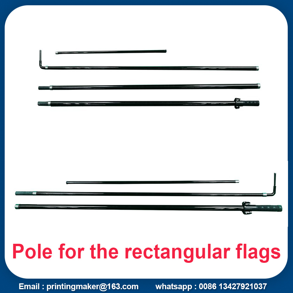 flagpole for the rectangular flags