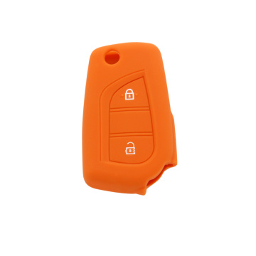 toyota cute rubber key 2 buttons shell