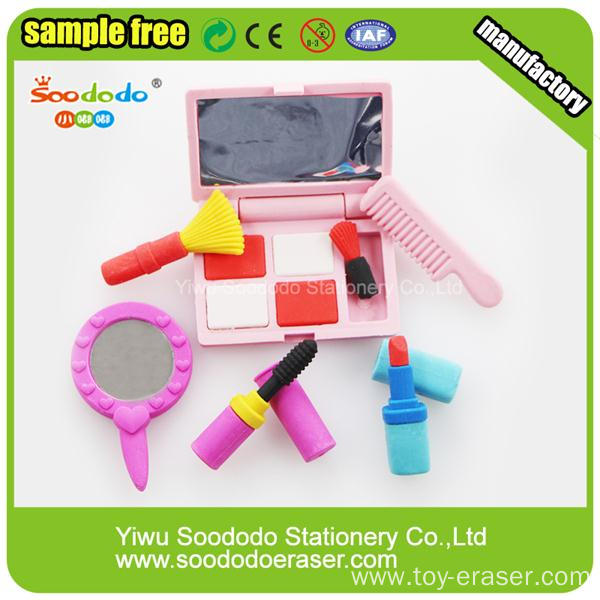Girl Eraser Sets Make-up Box New Design Products Eraser