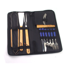 Best-Selling for BBQ Nylon Bag Set 12pcs BBQ set with dinnerware supply to Japan Manufacturer