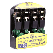 4-Pack 25MM Ratchet straps