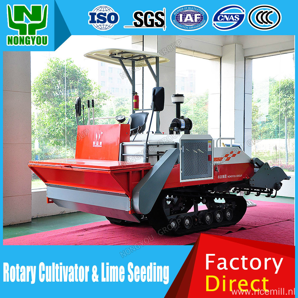 Tillage Machine Rubber Track With Lime Fertilizer Spill