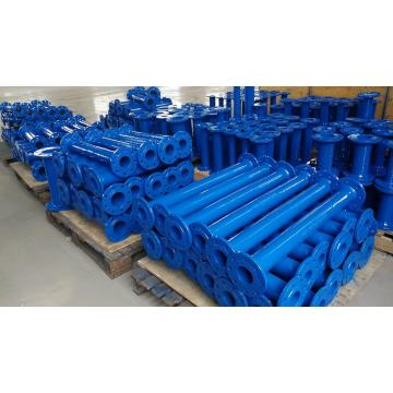 Double flange short pipe