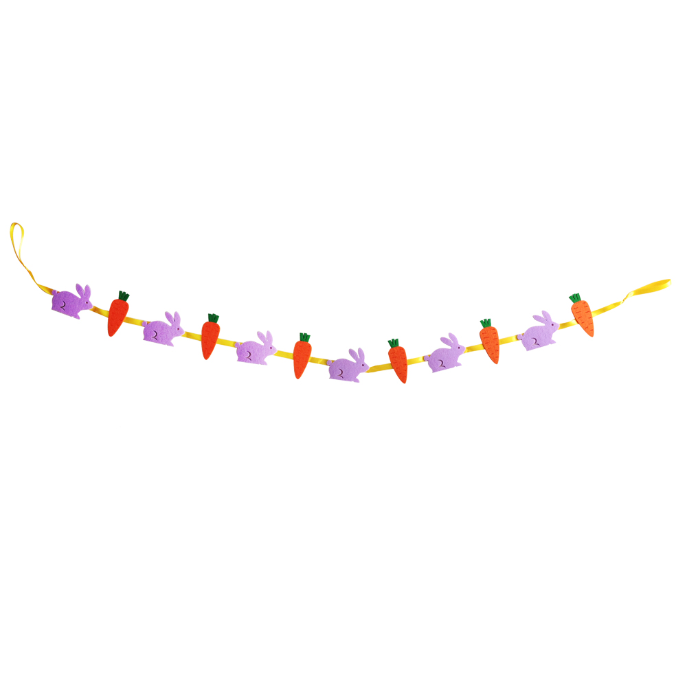 Easter Rabbit And Carrot Banner