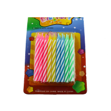 18 Pieces Colorful Birthday Party Spiral Candles
