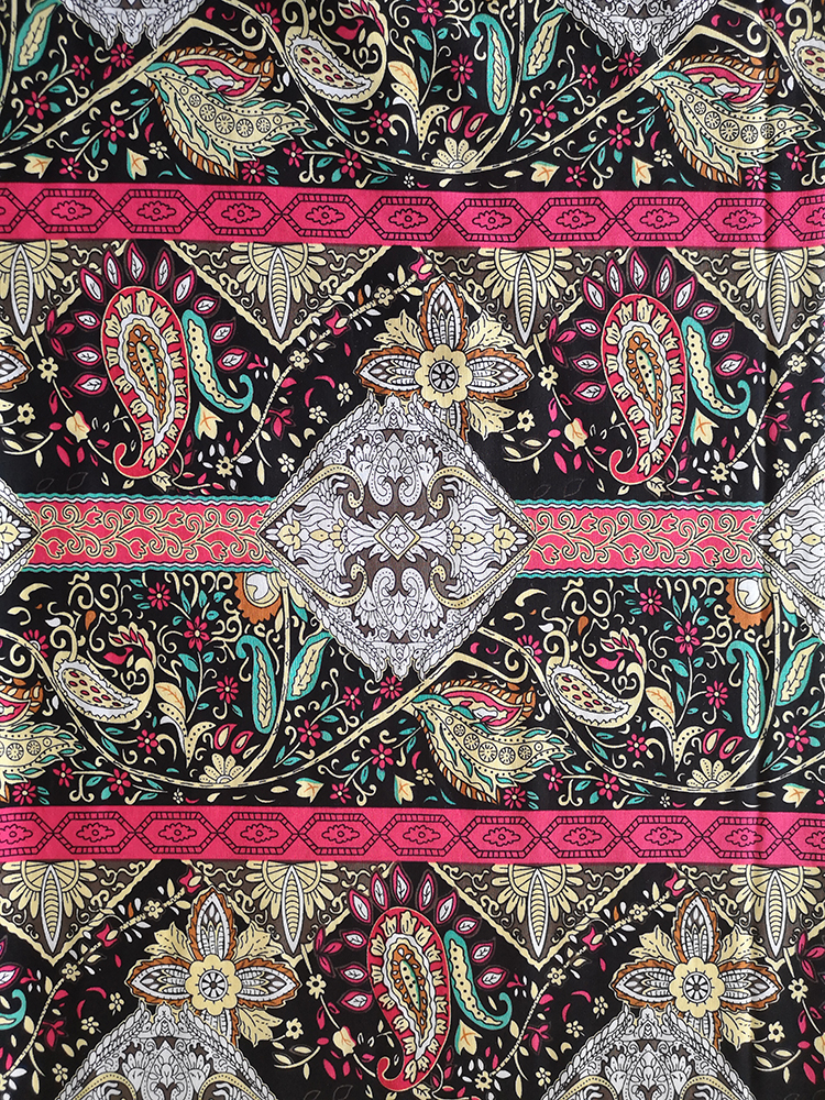 Ethnic Design Rayon Challis 30S Light Printing Fabric