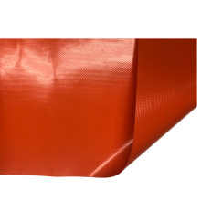 red 1000D curtain cover pvc coated fabric tarpaulin