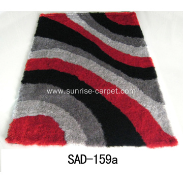 Silk Polyester 300D Shaggy with Design Rug
