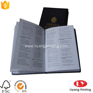 PU book printing with gold foil