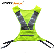 high visibility running vest withLED flashing