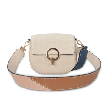 Flap Top Ring Mini Crossbody Bag For Ladies